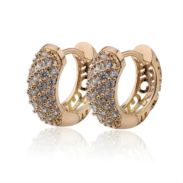 2017 Gold-Color CC Hoop Earrings Bijoux Women Brand Earring Jewelry Brinco Ouro Pendientes Fashion Free Shipping E18K-49