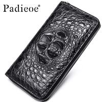 Padieoe 2018 новый кошелек для монет тиснение Аллигатор Мода Крокодил длинный мужской клатч кошельки мужские крокодил Длинный клатч кошельки