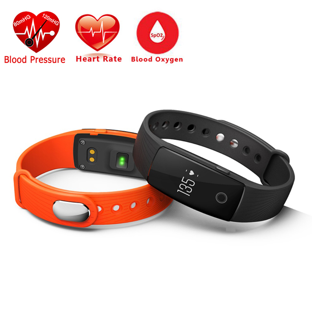 Heart Rate Blood Pressure Bracelet Fitness Band Tracker Smartband Bluetooth Smart Wristband For iOS Android Phone ID107 Upgrad