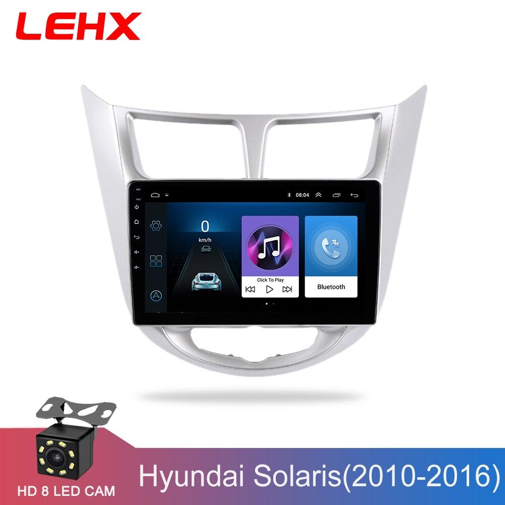 Autoradio lecteur vidéo multimédia Navigation GPS voiture Android pour Hyundai Solaris Accent Verna 2011 2012 2013 2014-2016