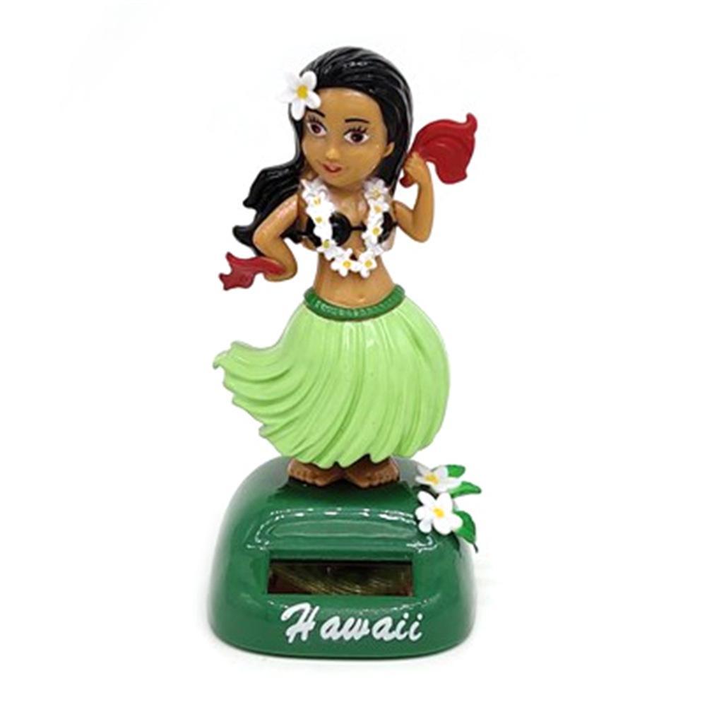 Солнечный танцующий Гавайский девочка хула качающаяся голова игрушка авто Интерьер декомпрессия приборной панели украшения автомобиля аксессуары для автомобиля - Цвет: B