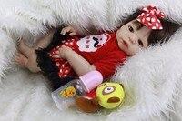 alive 55 cm Reborn Baby Dolls Girl Body SIlicone cute Babies Doll Bathe Toy brown eyes Newborn Babies Bonecas Bebe gift Reborn M