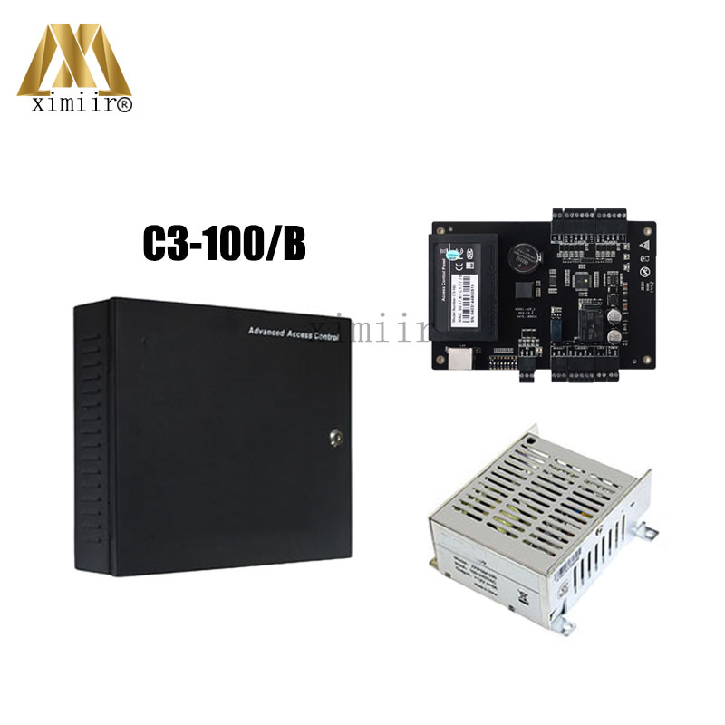 C3-100 1 door Access Control Panel TCP/IP Door Access Control Board With Battery Function Power Supply Protect Box Door Control biometric face and fingerprint access controller tcp ip zk multibio700 facial time attendance and door security control system