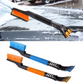 60CM Length Car EVA Cotton Handle Retractable Winter Vehicle Scraper Shovel Snow Removal Brush Wiper Blades Remove Clean Tool