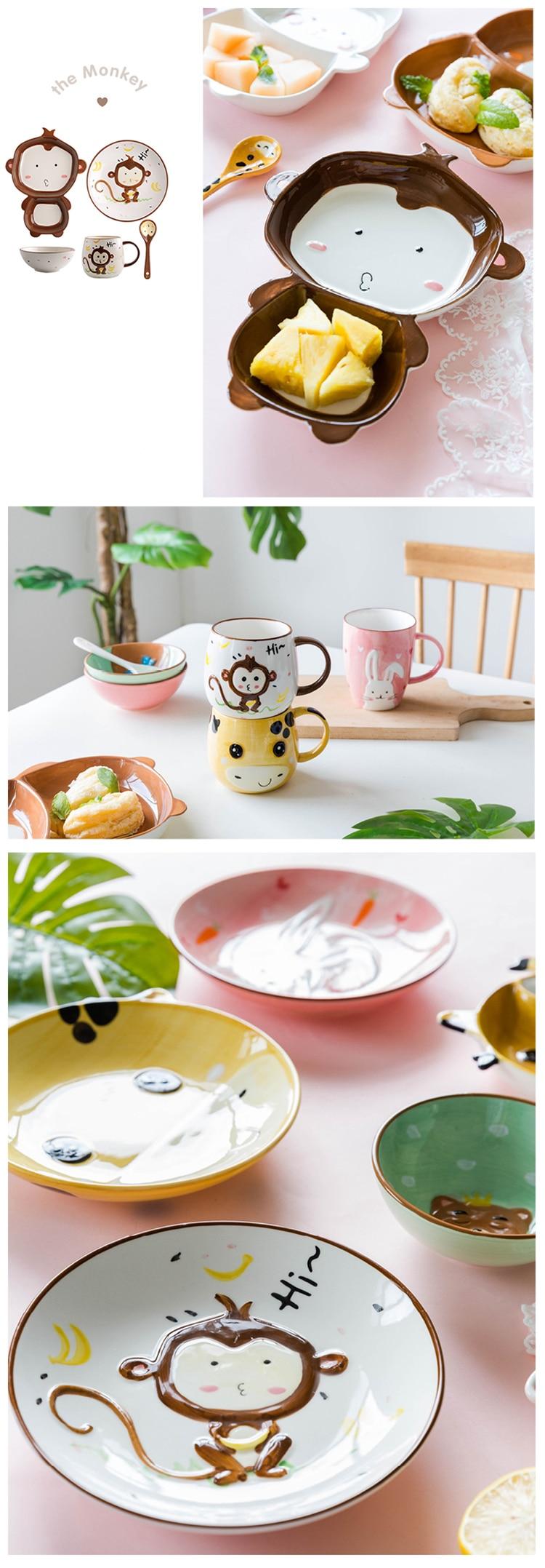 utensílios de mesa urso prato alimentação
