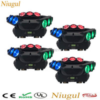 4pcs/lot 9 Eyes LED Spider Beam Light Adj Light With Endless Rotating Stage Lights 9/43 DMX Channels 5 Beam Angle For Party Club