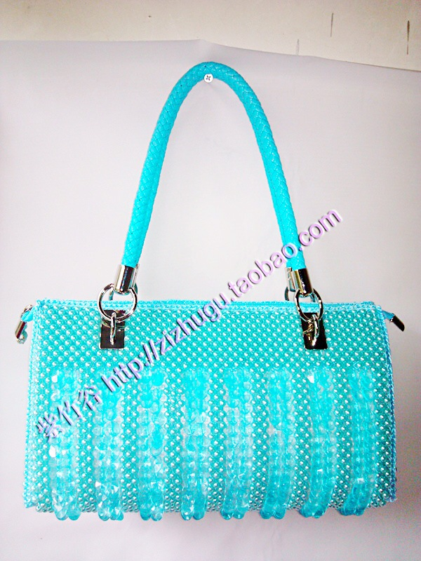 Diy beads bags handmade bag women\'s handbag pearl fish scale bag ...