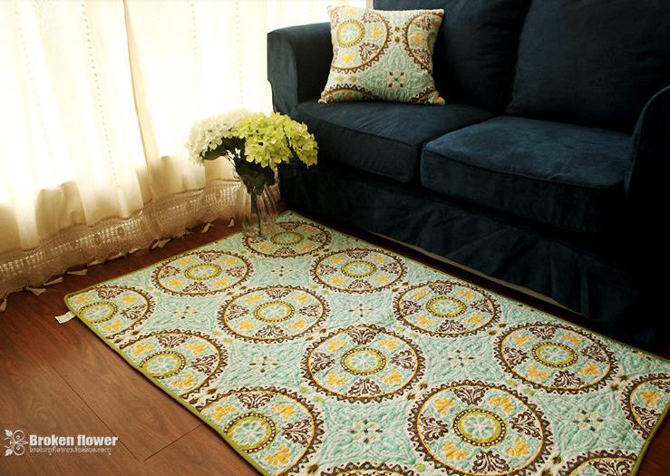 90cm*150cm Luxury Royal Flowers Print Area Rugs Bohemian Style Modern Rugs  And Carpets For