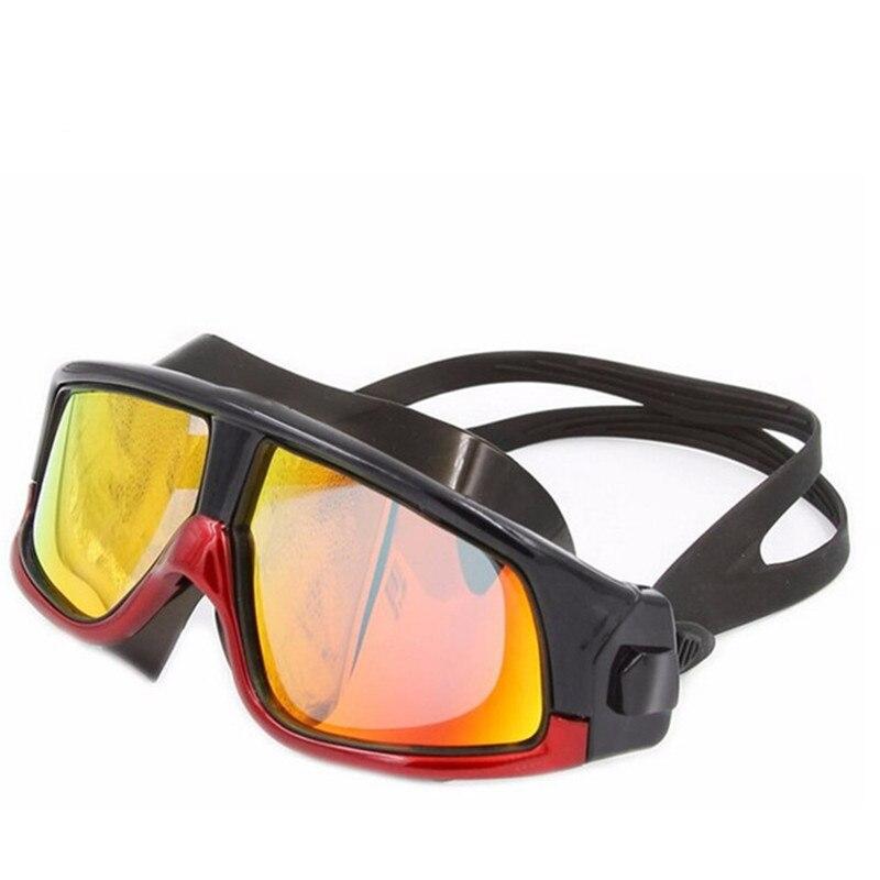Marca oversized marco gafas de natación adultos natación impermeable ...
