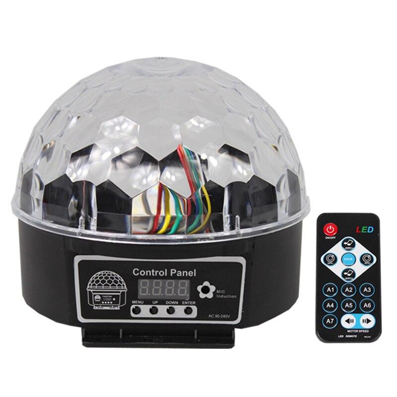 Disco lights digital sound control flash led RGB crystal magic ball effect lights disco DJ stage lights