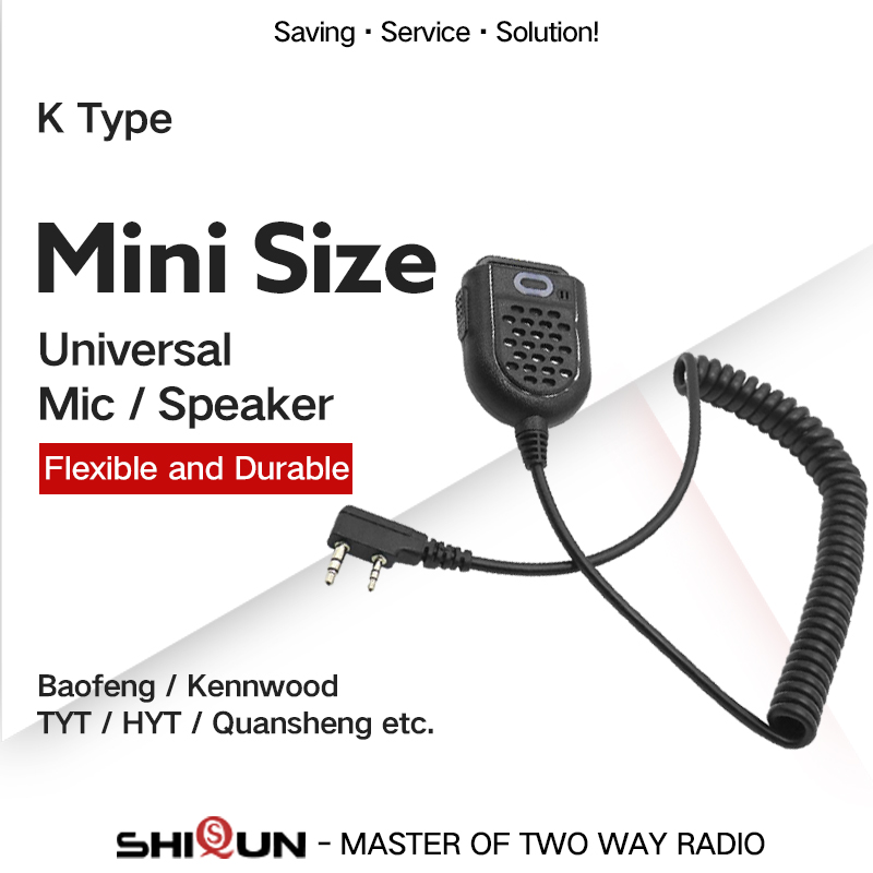 MIC PTT Baofeng TYT Quansheng Microphone UV-82 BF-888S Uv 5r Accessories Mini PTT Speaker Microphone Baofeng Uv-5r Accessories