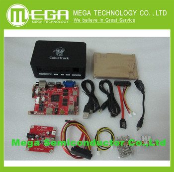 (Cubieboard 3) 2 GB DDR3 8G Cubieboard3 NAND Wifi BT + 3.5 polegada Disco Rígido + caixa preta
