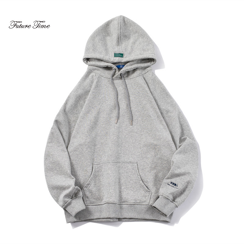 Flavor Orderly Mens Hoody Original Fashion Loose Hooded Hoodies Chinese Alphabet Embroidery Male Solid Big Pocket Sweatshirts Streetwear Wy086 Fragrant In