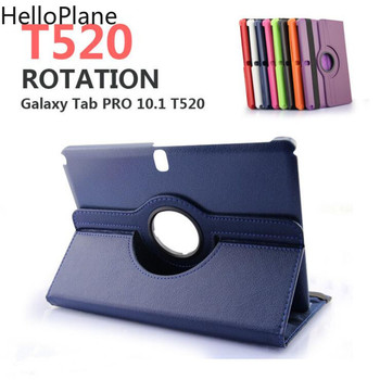 For Samsung Galaxy Tab Pro 10.1 inch T520 T525 T521 Note 2014 P600 P601 P605 Tablet Case 360 Rotating Bracket Leather Cover