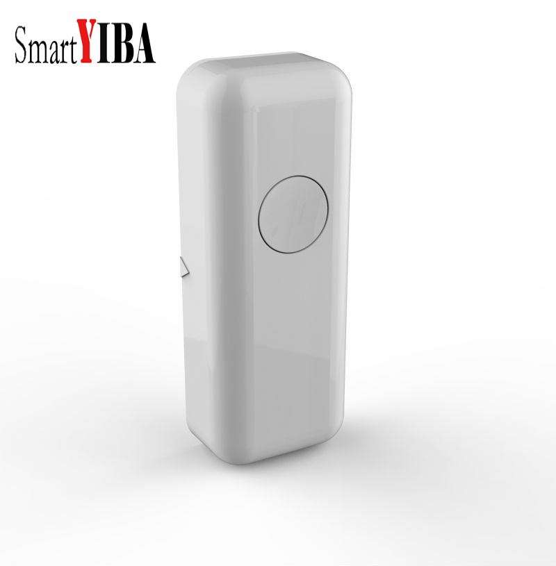SmartYIBA Wireless Door Window Sensor Magnetic Contact 433MHz door detector Detect Door Open for Home Security Alarm System 433mhz 5pcs wireless door window contact gap sensor detector 5pcs wireless vibration break breakage glass sensor detector