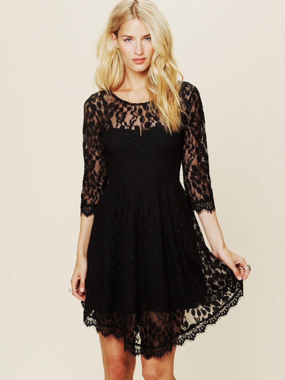 Black lace dress china