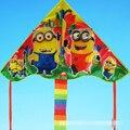 Envío de la alta calidad del arco iris colas minions kitesurf cometas con mango línea de weifang kite factory juguetes al aire libre caliente de la venta