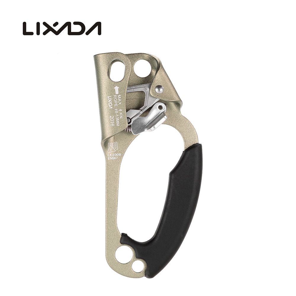 Lixada Professional Rock Climbing Mountaineer Right Hand Grasp Ascender 8mm 13mm Rope Rock Climbing Caving RescueDevice Riser in Outdoor Tools from Sports Entertainment