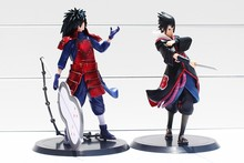 Anime Naruto Uchiha Madara Uchiha Sasuke 2pcs/set PVC Action Figures Model Toy