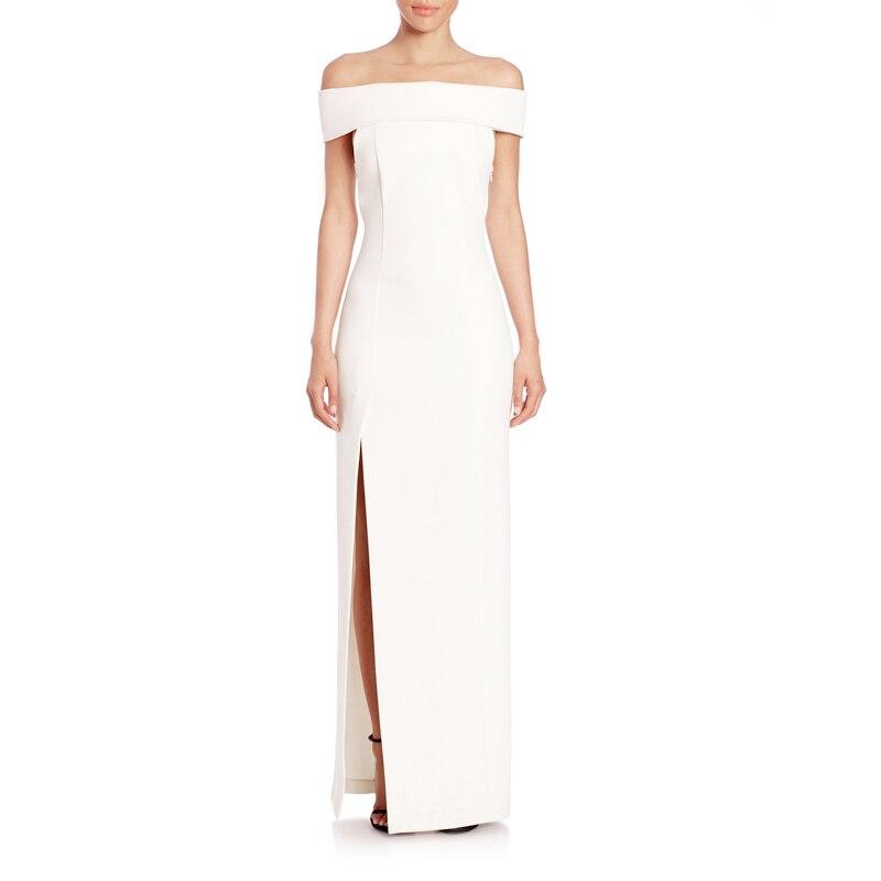 INDRESSME ชุดผู้หญิงปิดชุดไหล่ Slash คอข้อเท้า ความยาวแยก Bodycon Elegant Long Party Dresses Vestidos 2018-ใน ชุดเดรส จาก เสื้อผ้าสตรี บน   3