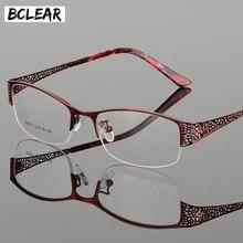 BCLEAR 2018 yeni varış yüksek dereceli Metal Ultra hafif miyopi presbiyopi zarif gözlük çerçeveleri kadınlar için reçete gözlük