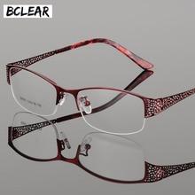BCLEAR 2018 הגעה חדשה בדרגה גבוהה מתכת קל במיוחד קוצר ראיה פרסביופיה אלגנטי אופטי מסגרות לנשים מרשם משקפיים