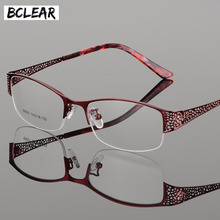 Bclear 2018 新着ハイグレード金属超軽量近視老眼エレガントな女性のための光学フレーム処方眼鏡