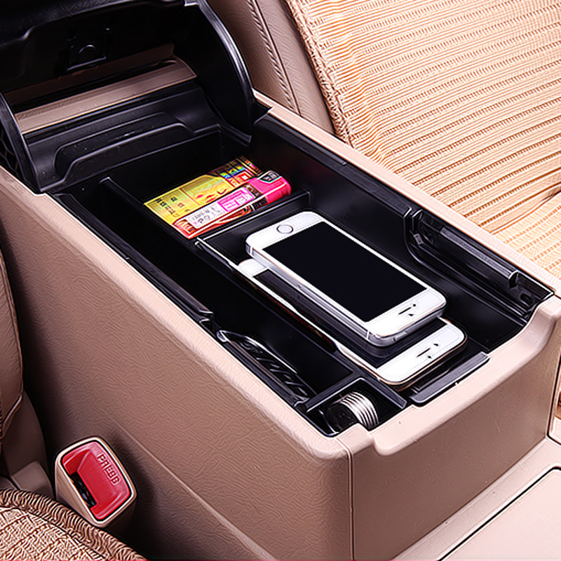 Car Central Armrest Storage Box To Deepen The Design Of Large Capacity Mute Modified Interior