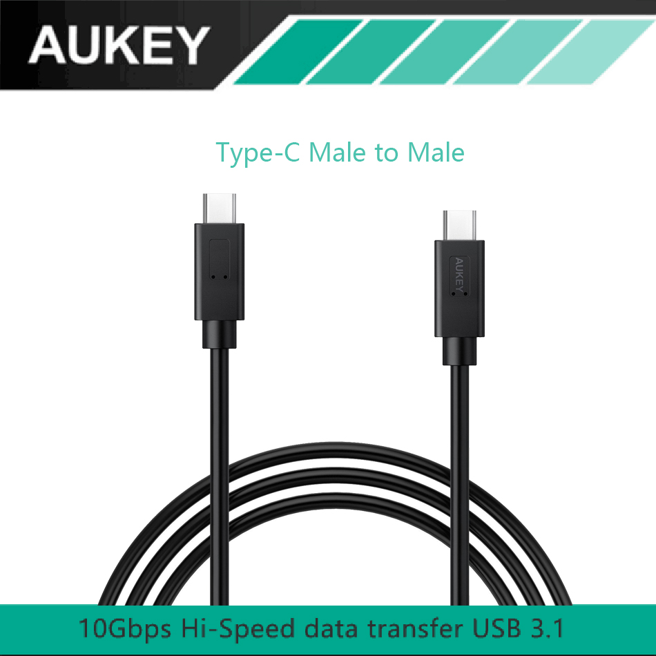 AUKEY USB-<font><b>C</b></font> to USB-<font><b>C</b></font> 3.1 Type <font><b>C</b></font> Male to Male Sync & Charging Cable (3ft) Transfer <font><b>Rate</b></font> Up to 10 Gbps For Typc <font><b>C</b></font> Supported device