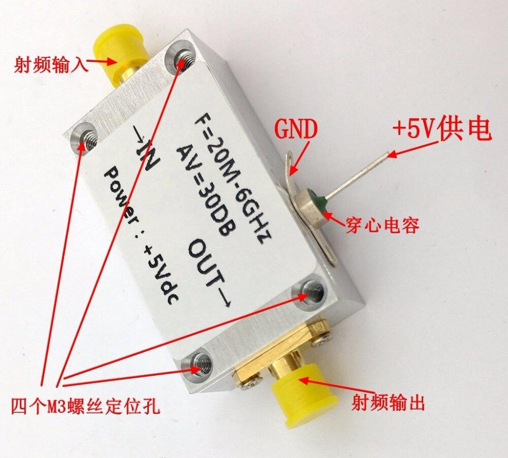 新 1 ピース LNA 20 mhz に 6 ghz 低ノイズアンプ RF アンプ CNC エンクロージャ高直線性  グループ上の 家電製品 からの イヤホン用アクセサリー の中 1