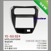 2 DIN ABS Plastic Frame Radio Fascia For Suzuki Alto 800 2014 Auto Stereo Interface Dash CD Trim Installation Kits
