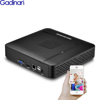 Gadinan 16CH 5MP NVR 8CH 4MP H.265 Max 5MP Output Mini IP Network Security Video Recorder Motion Detect ONVIF P2P CCTV NVR