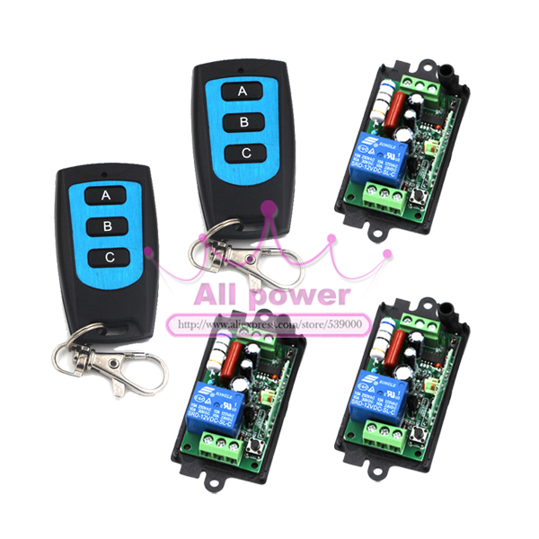 AC110V 220V 1CH RF Gate Garage Door Remote Control Switch System Transmitter and Receiver Home Automation Kit