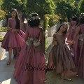 Современный 2016 длинные детские платья фиолетовый низкий атласная Primera Comunion дети платья для выпускного вечера детей вечернее платье