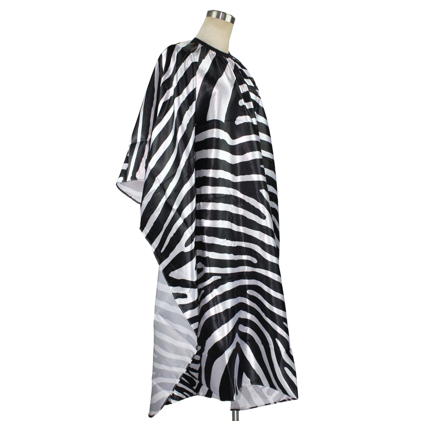 adult haircut cape ,hot saling zebra hair cape, hair styling cape for barber,hair cutting gown for professional salon