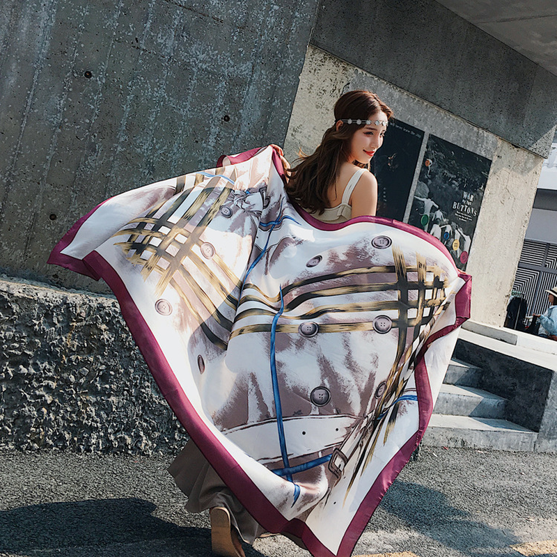 Новая Длинная Женская Весенняя и парео декоративная тонкая шаль приморский солнцезащитный пляжный шарф 2019 Осенняя женская мода