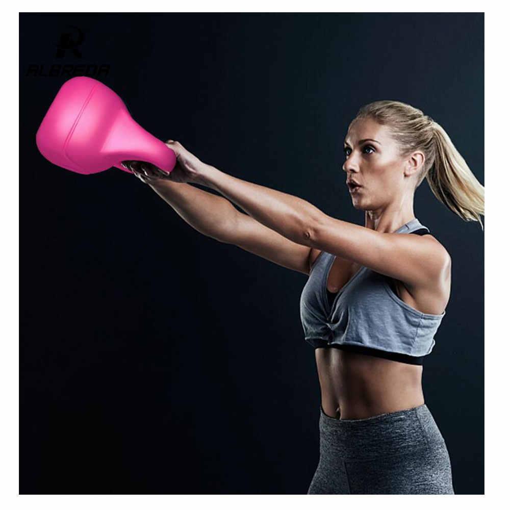 ALBREDA 1/шт 2-20 кг цветные мужчины и wo Мужчины Фитнес Экипировка мужчины t пластиковые наконечники в гантели тонированные приседания тренировки мяч силовой тренировки