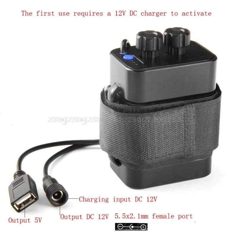 6x 18650 USB Power Battery Storage Case Box Holder 5V 12V For Bicycle LED Light Au09 Dropship