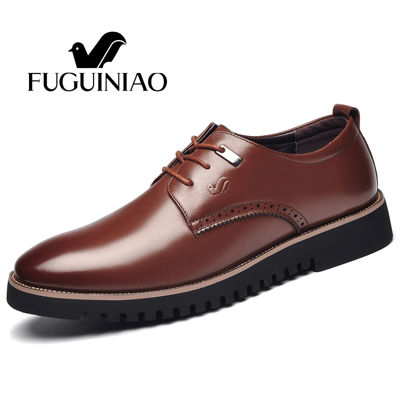 Fashion business shoes Free shipping FUGUINIAO genuine leather Men s dress Shoes male formal shoes color