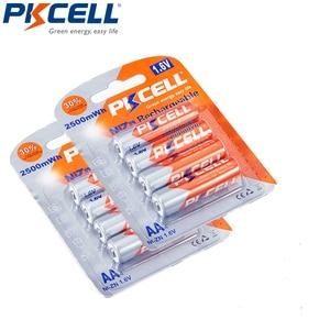 Image 2 - 8 шт. PKCELL 1,6 V AA NI ZN батарея 2500mWh 2A aa перезаряжаемые батареи и 1 шт. NI ZN зарядное устройство для батареи AA AAA
