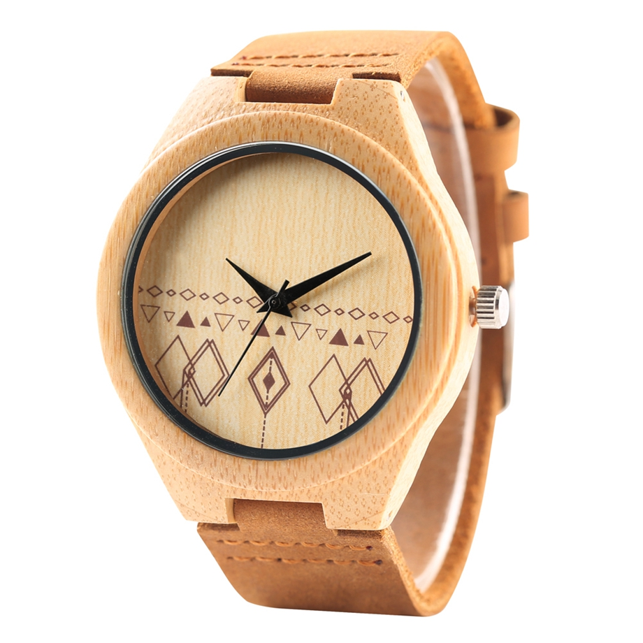 Unique Handmade Bamboo Wooden Clock Gifts Casual Quartz Wristwatch Watches Men Watches Top Brand Luxury relogio masculino (26)
