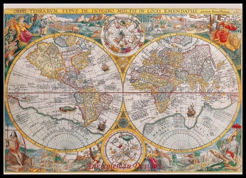 PUNTO croce contato MAP KIT-paesi del mondo