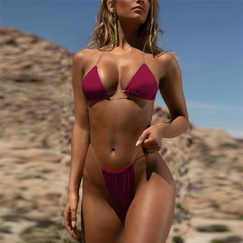 Vrouwen Bandeau Bandage Bikini Set Micro Backless Sexy 2020 Mujer Biquini Push-Up Braziliaanse Badmode Beachwear Badpak #10