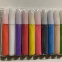 Цветной песок для искусства песка 10 цветов/набор трубок для песка 10 мл около 15 г каждого цвета