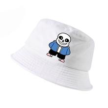 Game Undertale summer Cap music ghost Bucket Hats Cartoon New Curved caps Outdoor beach hat Women Men fisherman hats