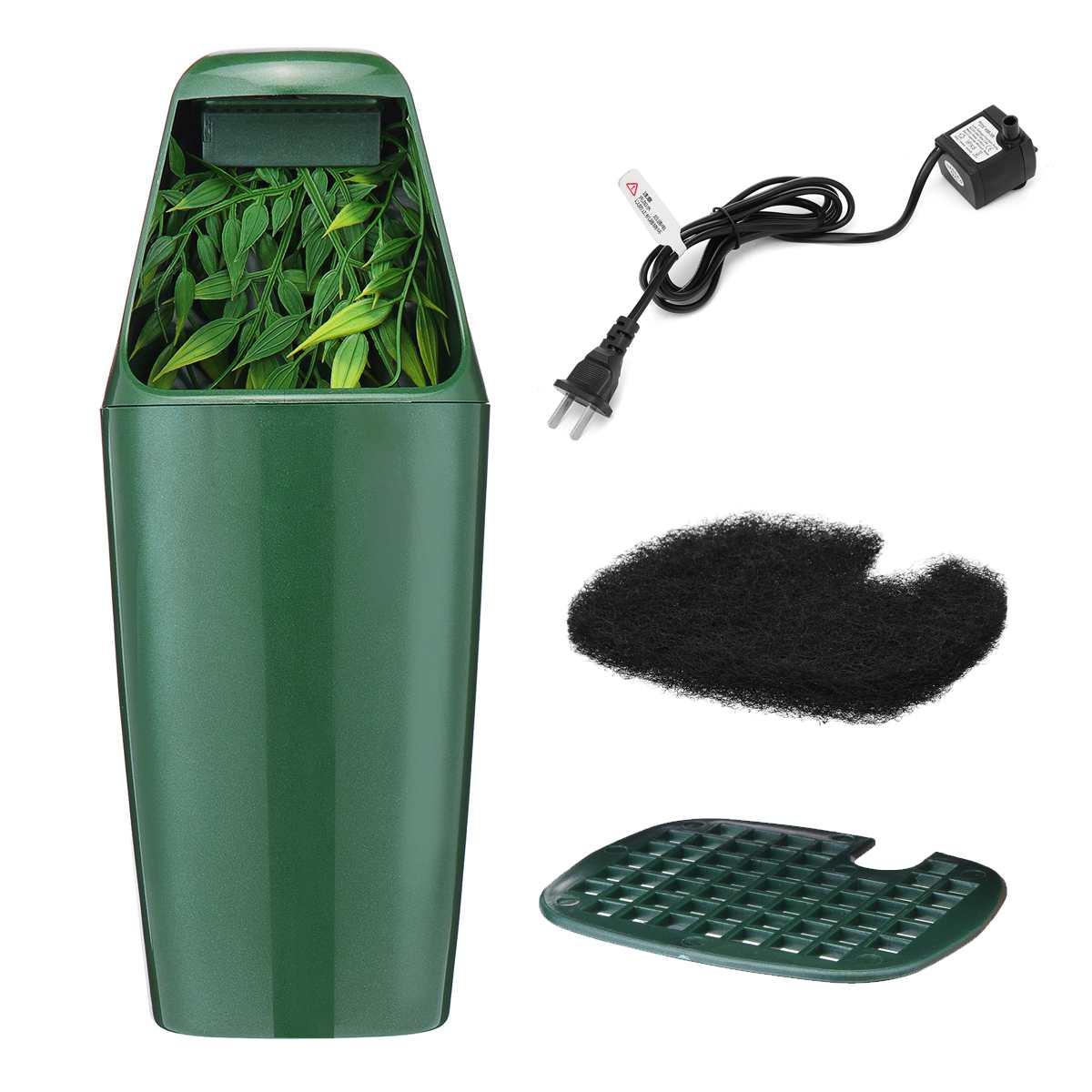 110V/220V Reptile Drinking Water Filter Fountain Green Feeding Chameleon Lizard ABS Dispenser Terrarium Reptiles Supplies
