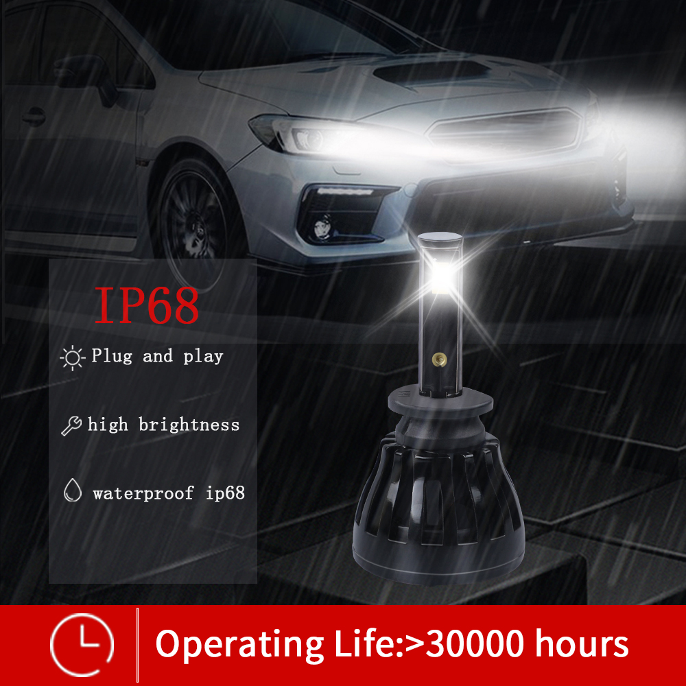 Image 5 - headlight H11 led car light Canbus no free Eutectic COB led h1 h3 9005 9006 HB3 HB4 9004 9007 Hi/lo beam 4800lm 6000k 12V 100W-in Car Headlight Bulbs(LED) from Automobiles & Motorcycles