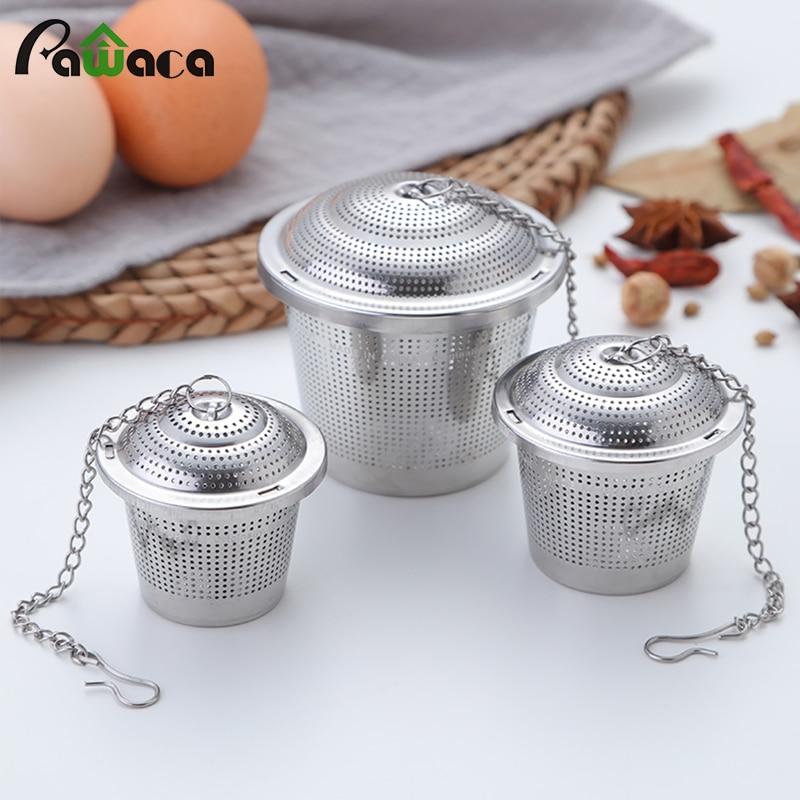 Tea Infuser Reusable Stainless Steel Mesh Tea Ball Tea Strainer Filter Interval Diffuser Infuser For Loose Leaf Tea 5 Size