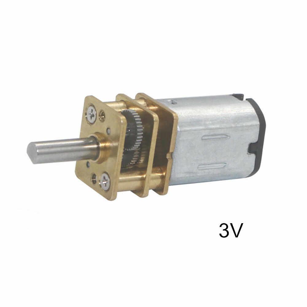 1x Mini Micro Speed Reduction Gear Motor DC 3V//6V//12V 15RPM-500RPM N20