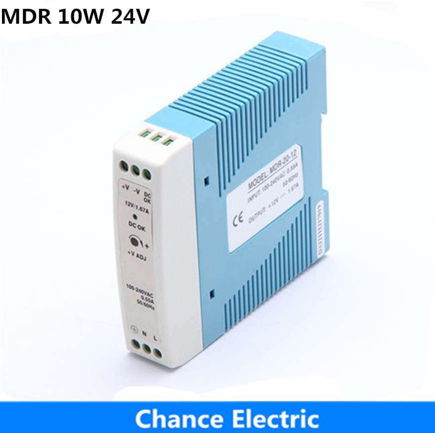 DIN Rail Industry Switching mode Power Supply MDR 10W 24V for cnc cctv  led light  made in china Direct Selling low price direct sale din rail smps mdr 60 12 mdr series 12v 5a 60w ce switching power supply for led strip light lamp
